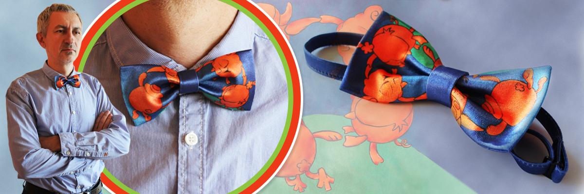 Сувенирный галстук-бабочка «Смешарики»