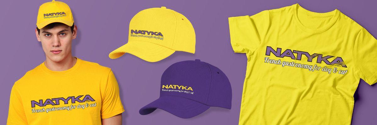 Бейсболка и футболка с логотипом Natyka