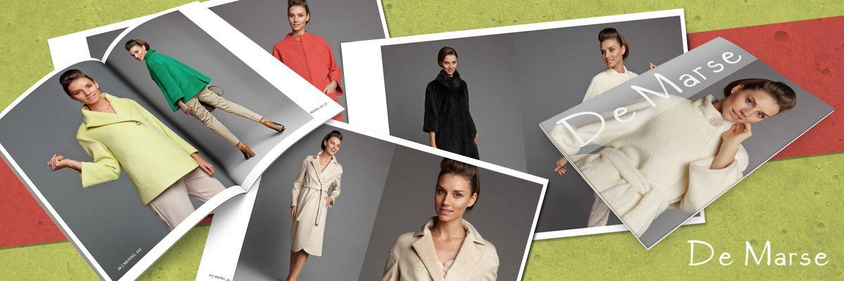 Креативный диайн каталога одежды De Marse