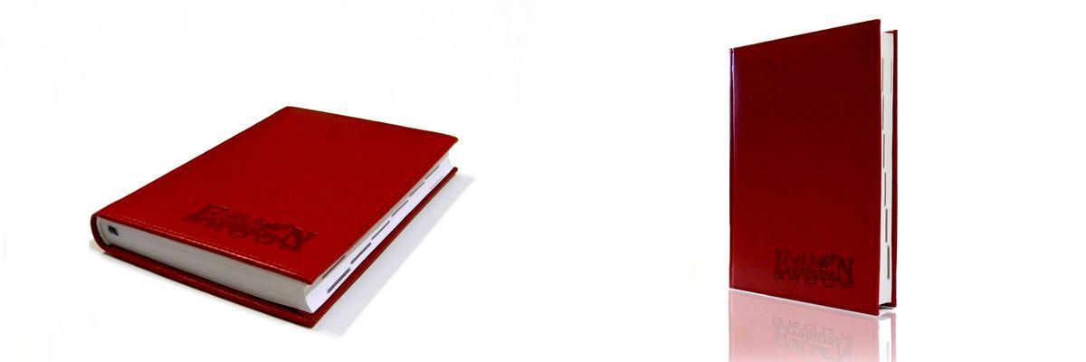 Датированный ежедневник формата A5, тиснение блинтовое, дизайн по макету заказчика.