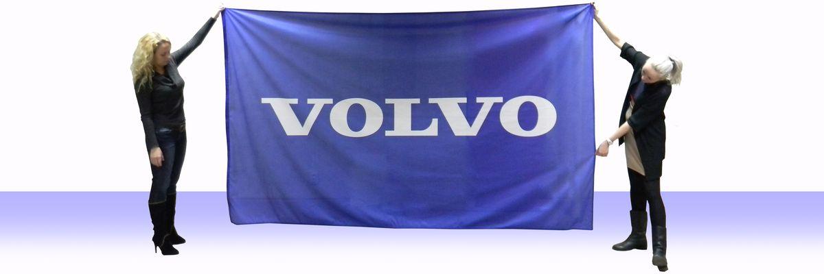 Фирменный флаг Volvo