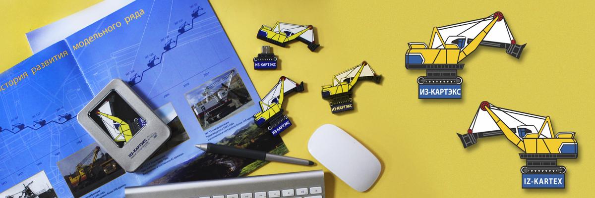 Фирменная сувенирная 3D-флешка из ПВХ в подарочной упаковке