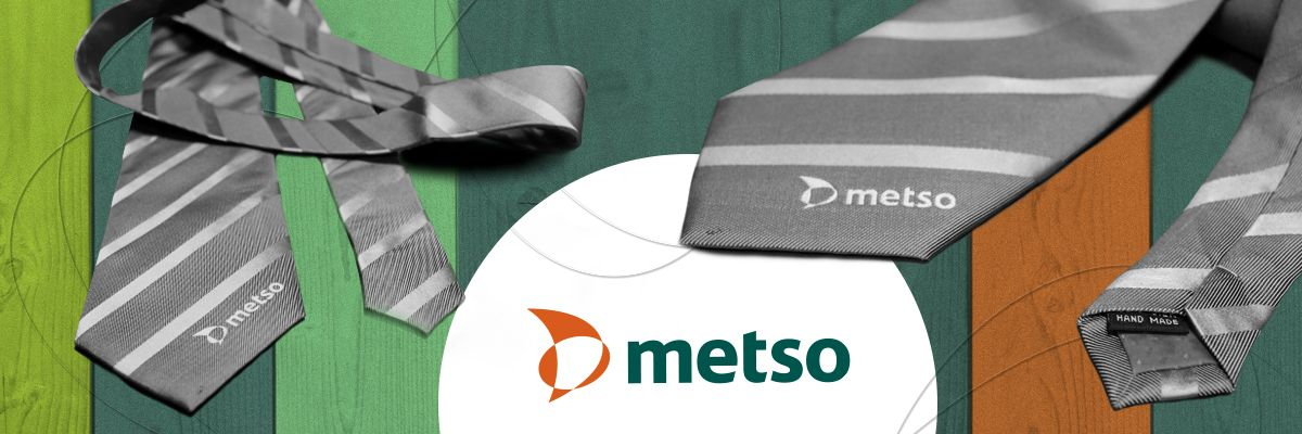Фирменный галстук с логотипом METSO
