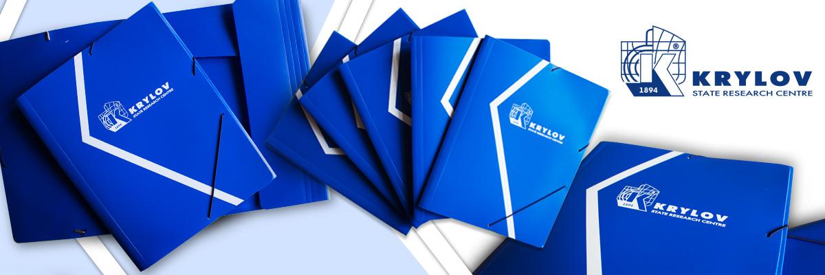 Фирменная пластиковая папка с логотипом