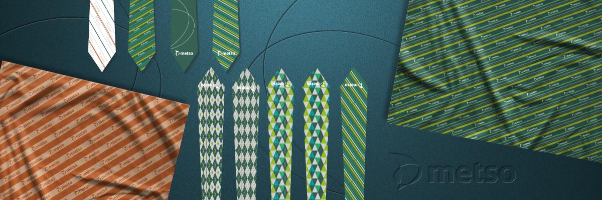 Дизайн галстука и платка Metso