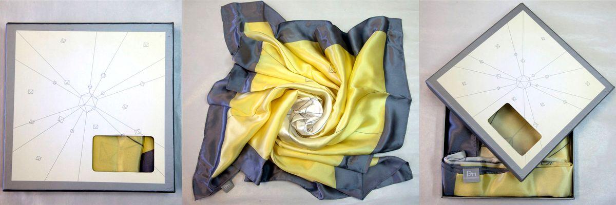 """Шёлковый платок в фирменной коробке для компании """"РЭП холдинг"""""""