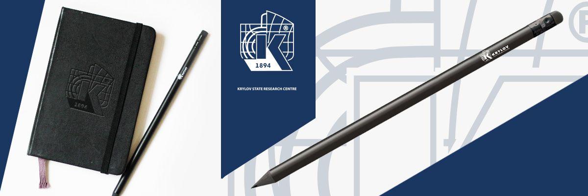 Фирменные карандаши с логотипом для выставки