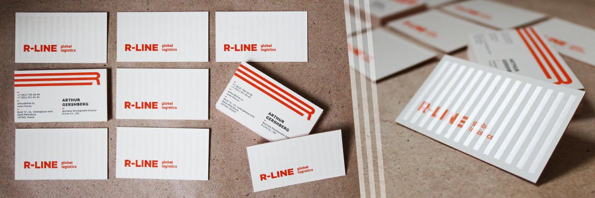 Дизайнерские визитки R-Line