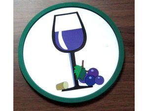 """Сувенирные костеры """"Бокал вина"""""""