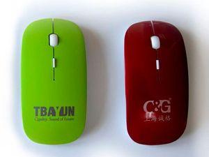 Беспроводная промо-мышь с логотипом и кнопкой перехода на сайт