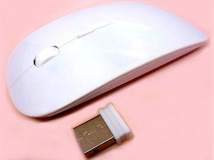 Беспроводная промо-мышь с кнопкой перехода на сайт