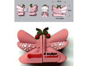 """USB-флешка оригинального дизайна колбаса """"Иней"""""""