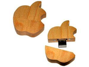 "Сувенирная USB-флешка из дерева ""Apple Mac"""