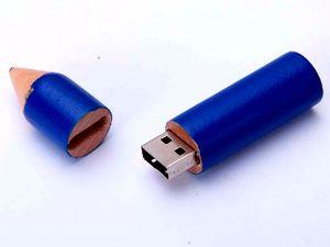 """Деревянная USB-флешка """"Карандаш"""""""