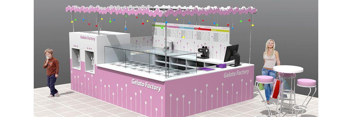 3D-дизайн кафе-мороженого