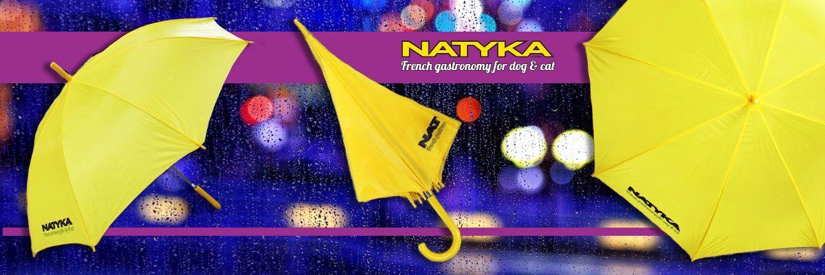 Рекламный зонт с логотипом NATYKA